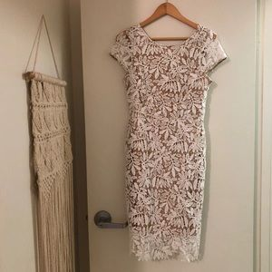 Lulus white midi dress